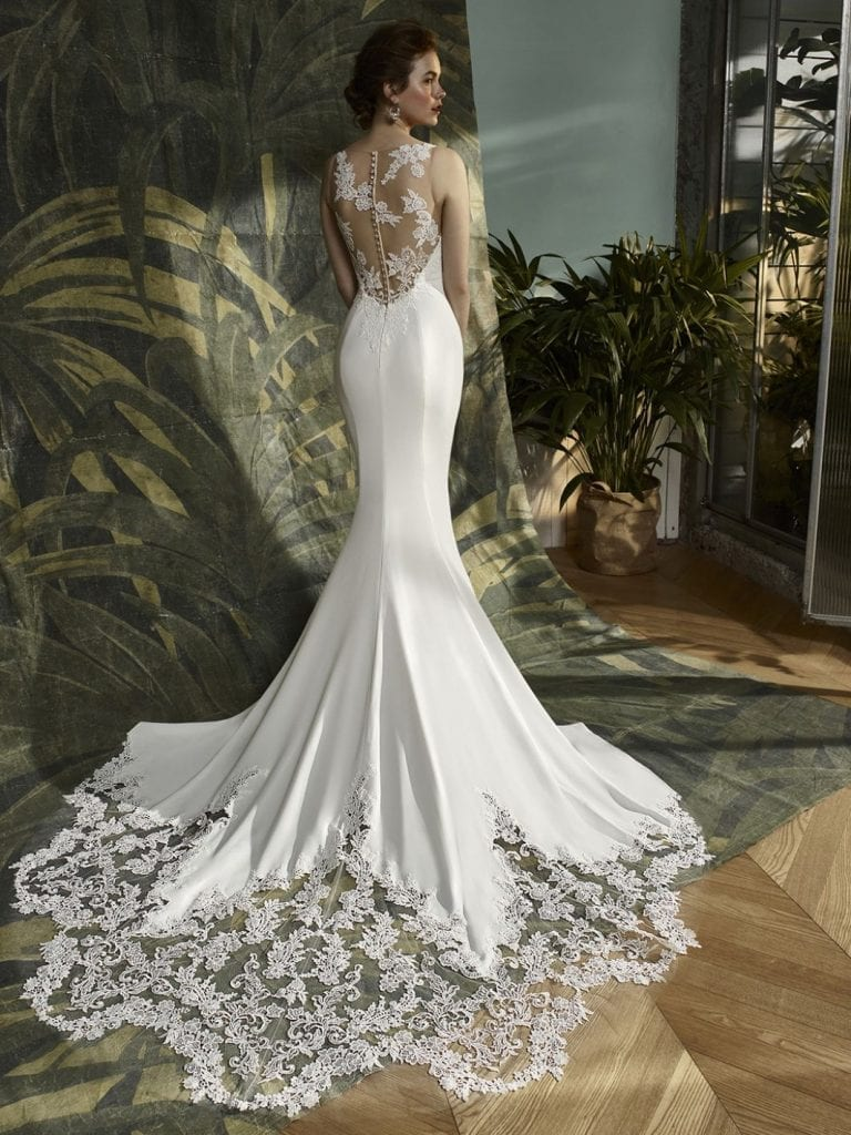 Blue by Enzoani Kalypso Wedding Dress Back