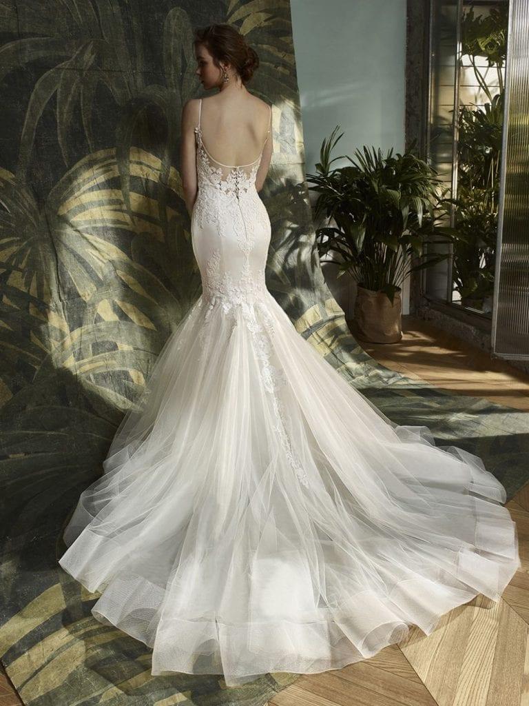 Blue by Enzoani Katniss Wedding Dress Back