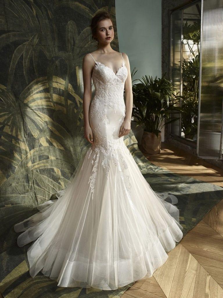 Blue by Enzoani Katniss Wedding Dress Front