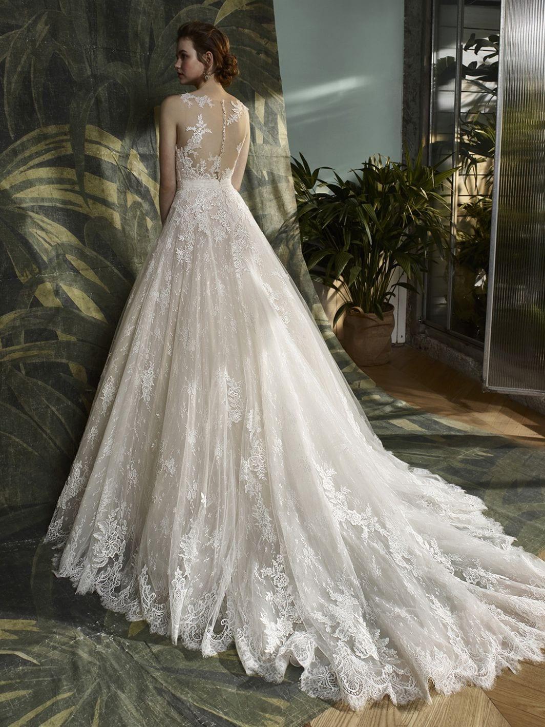 Blue by Enzoani Kaylin Wedding Dress Back