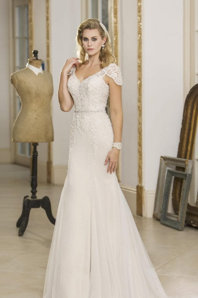 True Bride Fit and Flare Wedding Dress Front