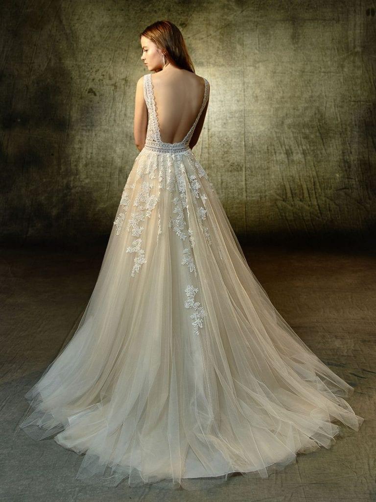 Blue by Enzoani Lyvia Wedding Dress Back