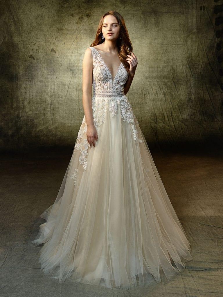 Enzoani Lavender Wedding Dress Front