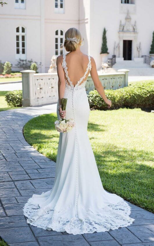 Stella York Backless Wedding Gown