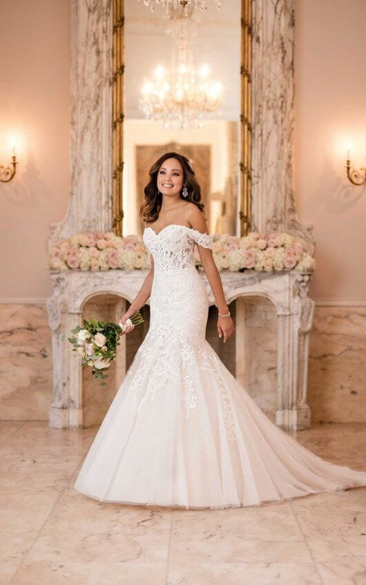 Stella York Fit and Flare Wedding Dress