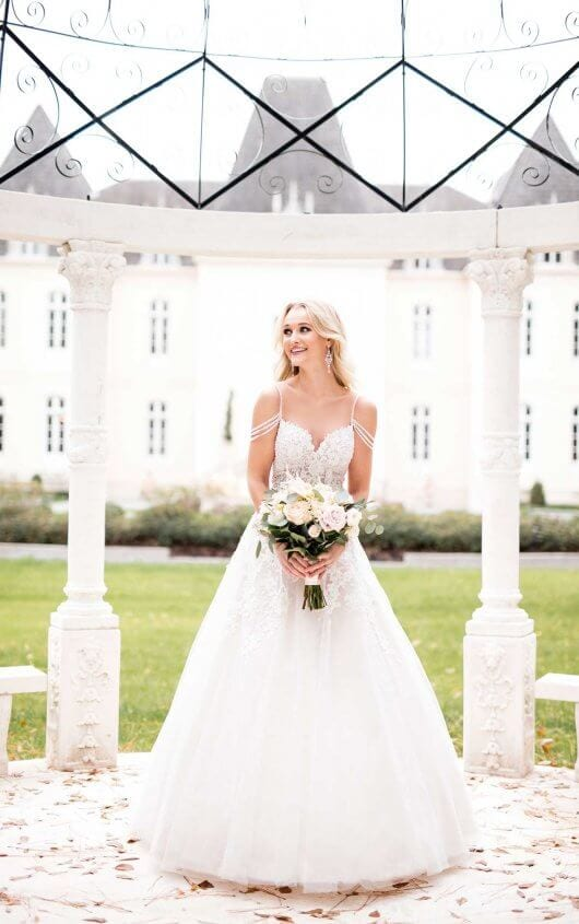 Stella York Relaxed Ballgown Wedding Dress with Pearls