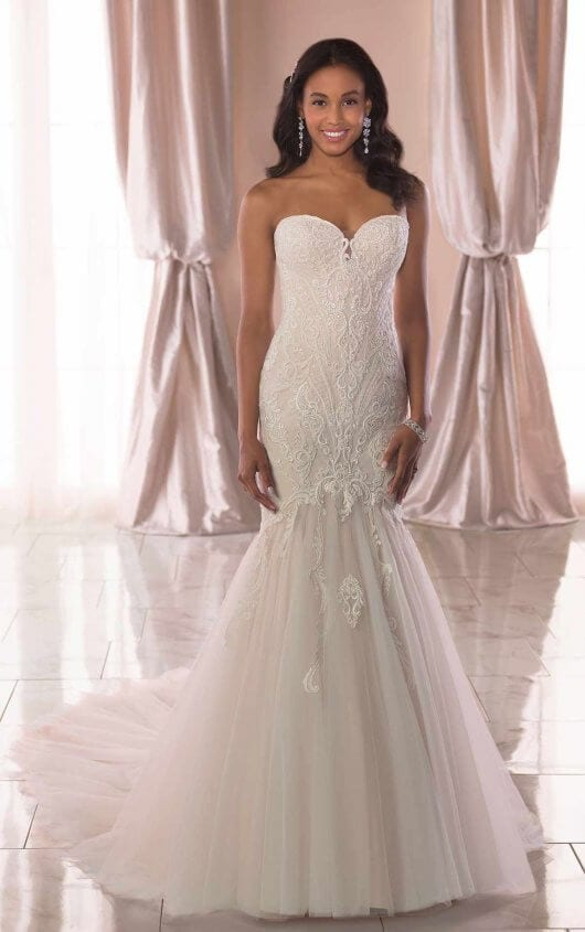 Stella York Lace Bust Wedding Dress