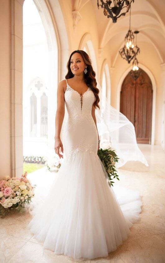 Stella York Wedding Dress Plunging Neckline